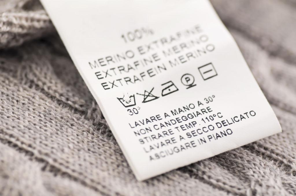 Los símbolos de lavado de la ropa