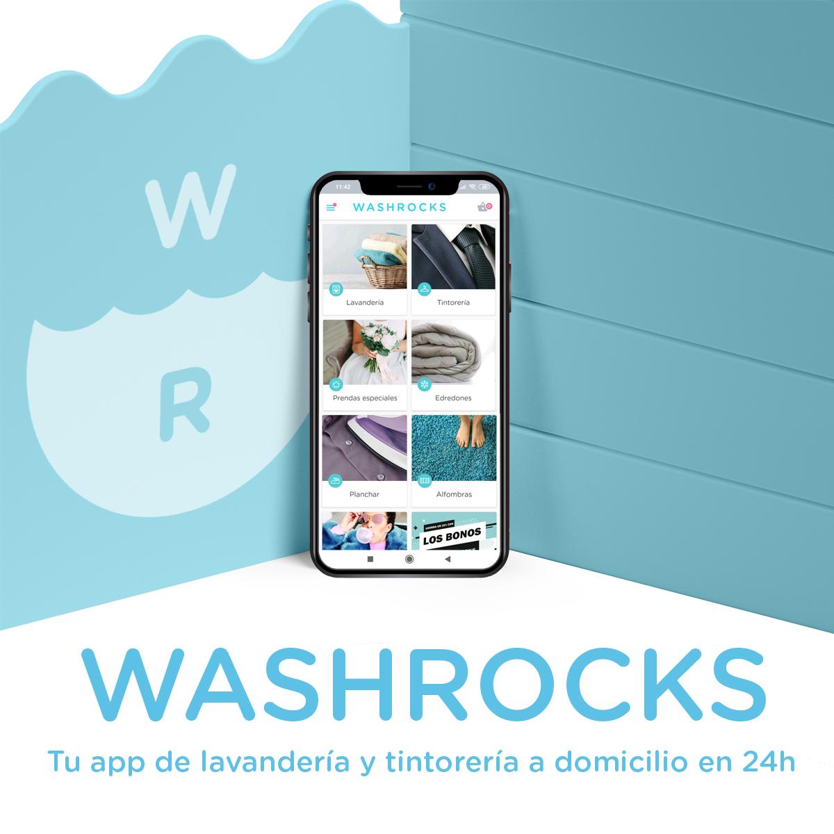 Washrocks es la App para lavar la ropa