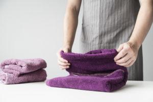 Toallas suaves listas para usar