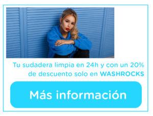 20% de descuento en el lavado de tu sudadera con WASHROCKS